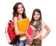 Two happy students Stock Photos