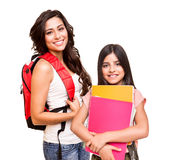 Two happy students Royalty Free Stock Photo