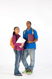 Two Happy Students - Vertical Stock Photos