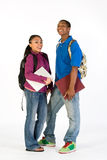 Two Happy Students - Vertical Stock Image