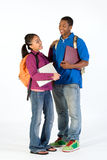 Two Happy Students - Vertical Stock Photography