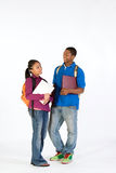 Two Happy Students - Vertical Royalty Free Stock Image