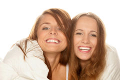 Two happy teenage girls Royalty Free Stock Photo