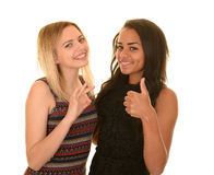 Two happy teenage girls Stock Photography