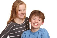 Two happy teenagers Royalty Free Stock Photos