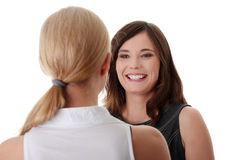 Two happy women Royalty Free Stock Images