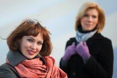 Two happy women Stock Image