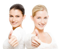 Two happy women Royalty Free Stock Photo