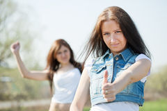 Two happy women Royalty Free Stock Image