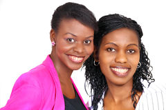 Two happy women Stock Images