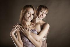 Two happy women Stock Photos