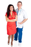 Two happy young doctors Royalty Free Stock Image