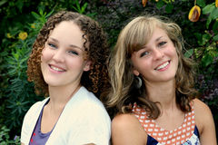 Two Happy Young Females Royalty Free Stock Photo
