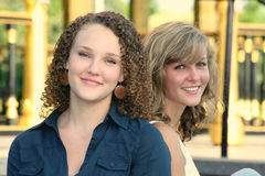 Two Happy Young Females Royalty Free Stock Photography