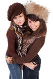 Two happy young girlfriends Stock Photography