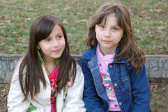 Two happy young girls Stock Photo