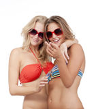 Two happy young women Stock Photo