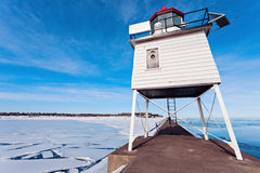 Two Harbors Breakwater Lighthouse stock photos