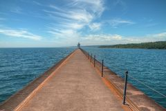 Two Harbors is a community on the North Shore of Lake Superior i. N Minnesota stock image