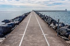 Two Harbors Jetty on Lake Superior royalty free stock images