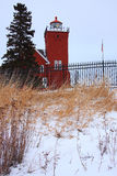 Two Harbors Lighthouse. On Lake Superior in Minnesota Royalty Free Stock Image