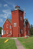 Two Harbors Lighthouse. Along Lake Superior in Minnesota Stock Photos