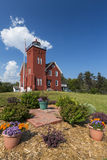 Two Harbors Lighthouse. An old brick lighthouse along Lake Superior royalty free stock photo