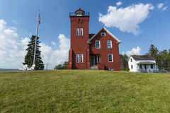 Two Harbors Lighthouse. An old brick lighthouse along Lake Superior royalty free stock photography