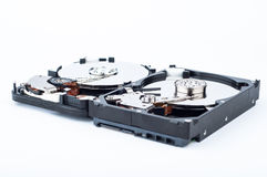 Two hard disk drives closeup Stock Image