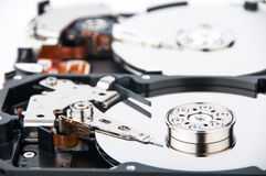 Two hard disk drives closeup Royalty Free Stock Image