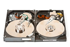 Two hard drives Stock Photography