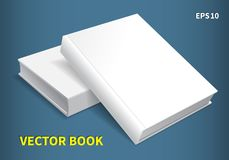 Two hardcover books. Lying on the table, one on top of the other. A clean white cover for your business that adorns your creativity. With soft shadows, a Royalty Free Stock Images