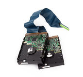 Two harddrives Stock Image