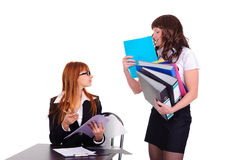 Two hardworking woman Royalty Free Stock Photo