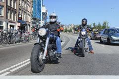 Two Harley Davidson motor cycles. Stock Images