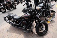 Two Harleys stock photo