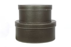 Two hat boxes Royalty Free Stock Photos