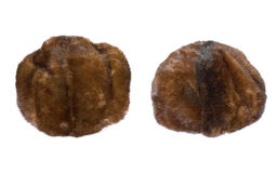 Two hats. Two old brown hats of isolated on a white background Stock Photo