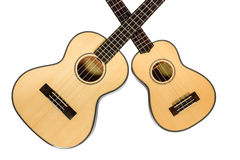 Two Hawaiian Ukulele Stock Photography