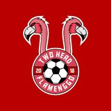 Two head flamengo sports logo stock image