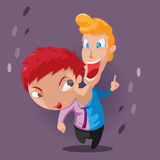 Two Head Twin Character Design Vector Royalty Free Stock Photos