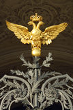 Two headed eagle. On Winter Palace gates Stock Photos
