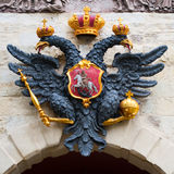 Two headed eagle. Russian coat of arms, sporting the imperial two-headed eagle Royalty Free Stock Photography