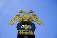 Two headed eagle Petersburg Stock Photography