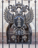 Two-headed eagle with a shield Royalty Free Stock Image