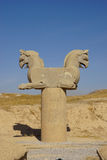 Two-headed Griffin statue in  Persepolis, Iran. Stock Photography