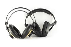 Two headphones. Royalty Free Stock Photos