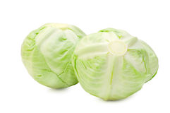 Two heads of cabbage Stock Image