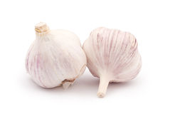 Two Heads of Garlic. Isolated on white Royalty Free Stock Photography