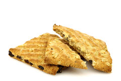 Two healthy fibrous crackers Royalty Free Stock Images